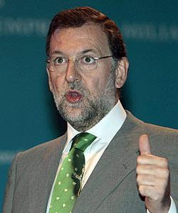 Mariano Rajoy durante la conferencia inaugural del décimo Congreso Nacional de la Empresa Familiar. MONTSERRAT T. DIEZ / EFE