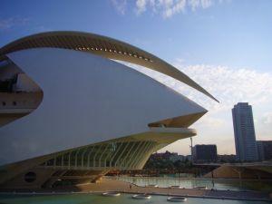 Edificio en la Ciudad de las Artes y las Ciencias de Valencia.