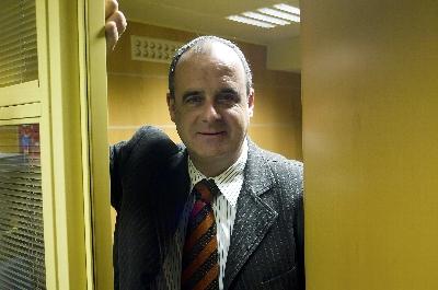 Joseba Egibar en las oficinas del PNV en el Parlamento vasco, el pasado viernes, una vez finalizada la entrevista.