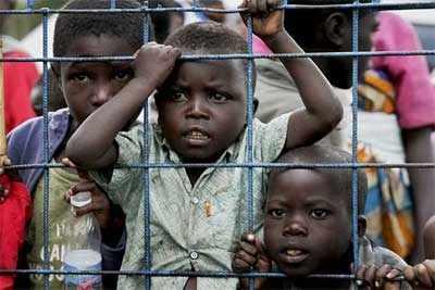 Cerca del 60% de los desplazados en el Congo son niños.