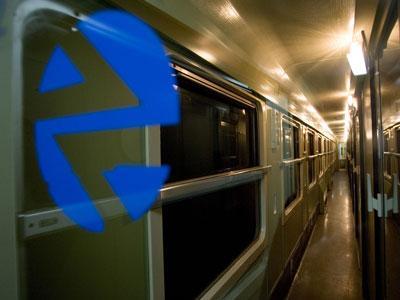 Pasillo de uno de los trenes Estrella que une Madrid con Francia. JOSÉ COLÓN