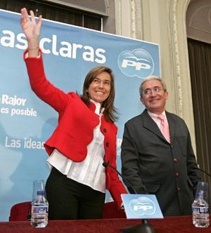 Ana Mato junto a Juan Carlos Aparicio.
