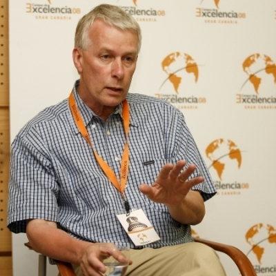 Richard Roberts, durante la entrevista en el Campus de Excelencia. OLIVER BOSSECKER