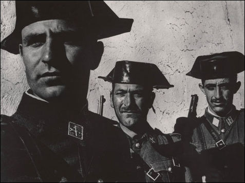 Guardia Civil, España, 1950.