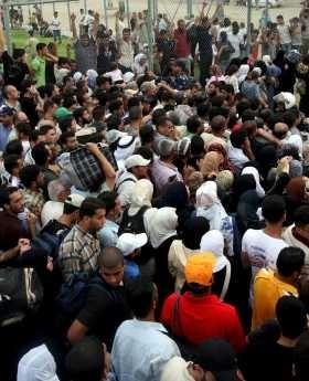 El paso fronterizo de Rafah en Gaza ayer. EFE.
