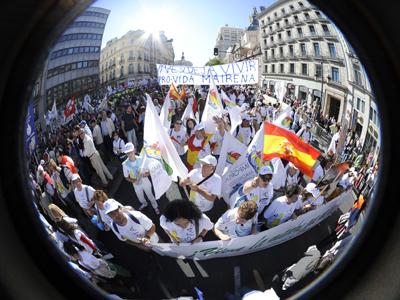 El movimiento antiabortista se manifestó en Madrid, todavía unido, el pasado 17 de octubre.