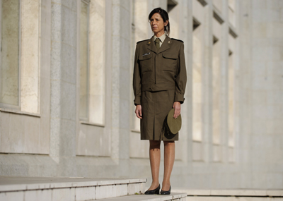 Patricia Ortega, la primera militar que alcanza el grado de teniente coronel en España, ayer, en el Ministerio de Defensa, en Madrid. - DANI POZO