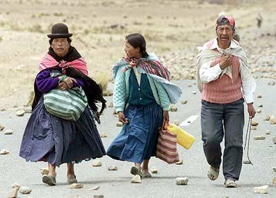 La pobreza y la escasez de infraestructuras son los males endémicos de la economía boliviana.