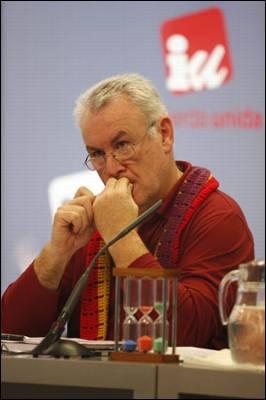 El coordinador general de IU, Cayo Lara.