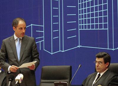 Francisco Camps y José Luis de la Rúa, en un acto oficial de la Generalitat