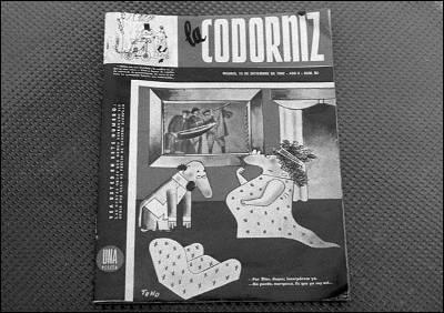 Portada de la revista satírica 'La Codorniz'.