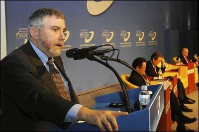 Paul Krugman durante su conferencia.