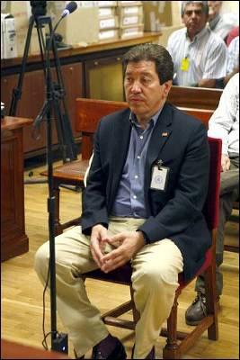 El alcalde de Puerto Real (Cádiz), José Antonio Barroso (IU), durante el juicio.EFE