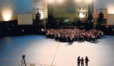 Imagen de un concierto en  Madrid en el mes de mayo, antes del inicio.