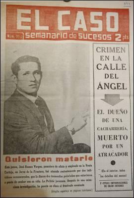Una portada del semanario dedicado a la información de sucesos, que dejó de publicarse en 1987.