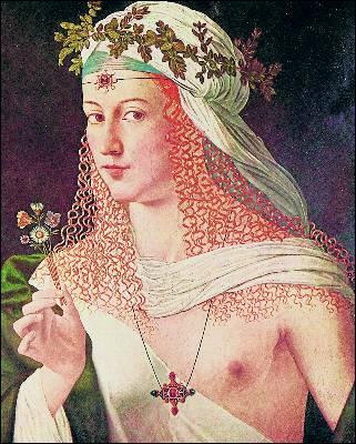 Una de las pocas imágenes de Lucrecia, por Bartolomeo Veneto.