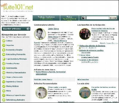 Captura de Suite101 en español.