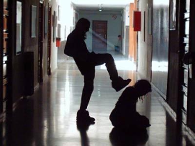 Escena de acoso escolar.