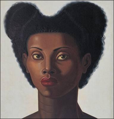 """Ou artista Pintou a """"caixa UMA Mulher Cabeça '(Black Head), EM 1946."""