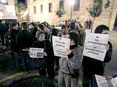 Protestas a favor del P2P