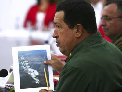Hugo Chávez durante su comparecencia en el gabinete de ministros.