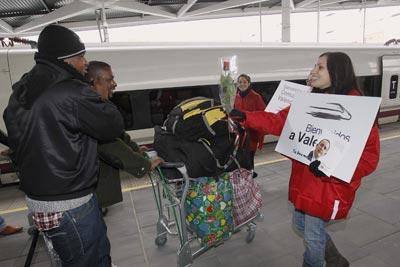Valencia recibe al AVE como un maná anti crisis