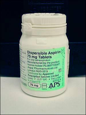 Bote de aspirinas.