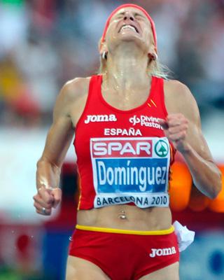 Marta Domínguez, investigada por presunto dopaje, durante la final de 3000 metros obstáculos en el Campeonato de Europa de Atletismo Barcelona.