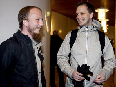 Peter Sunde (dcha.) y Gottfrid Svartholm, responsables de The Pirate Bay.