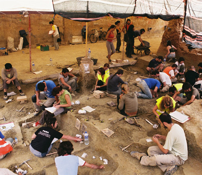 Excavaciones en el yacimiento barcelonés de Vallparadís. - IPHES
