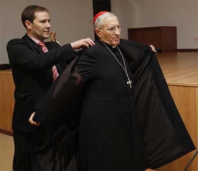 El presidente de la Conferencia Episcopal Española, Antonio María Rouco Varela, es la cabeza visible de la jerarquía eclesiástica en España. - MARTA JARA