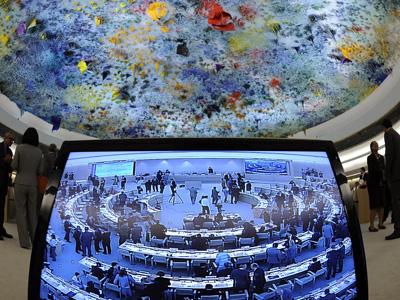 Reunión del Consejo de Derechos Humanos de Ginebra, el pasado diciembre. - AFP
