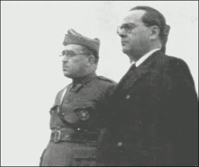 El general Vicente Rojo y Juan Negrín, en 1938.