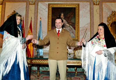El alcalde de Segovia, Pedro Arahuetes, en un acto en el Ayuntamiento. - EFE