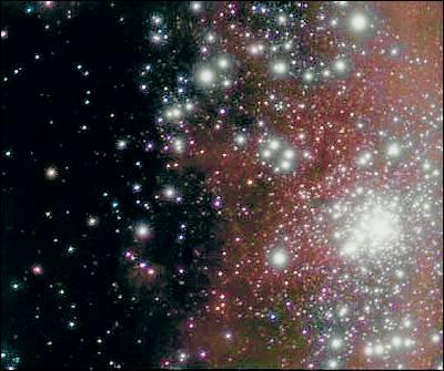 Una imagen del grupo estelar R136.