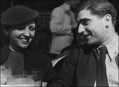 Fotografía de archivo de la fotógrafa Gerda Taro y el fotorreportero Robert Capa.