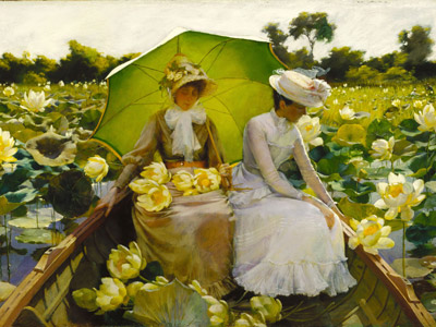 'Lotus lillies', de Charles Courtney Curran (1888).