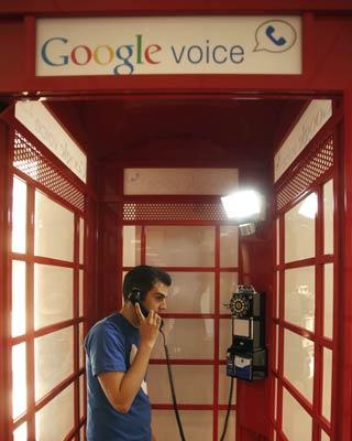 Cabina de Google Voice.