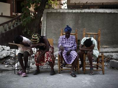 Una fotografía sobre el terremoto de Haití del reportero Corentin Fohlen