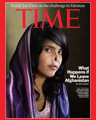 Aisha posó para la portada de la revista Time'. ANTONIO LAFUENTE