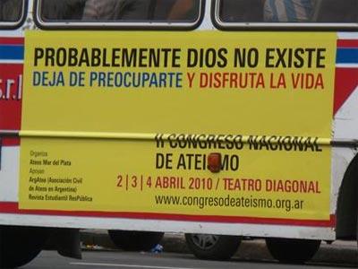 Cartel publicitario del II Congreso Internacional de Ateismo.