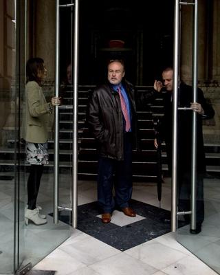 El ex diputado tránsfuga Eduardo Tamayo, en la sede de la Comunidad de Madrid.D. P0Z0