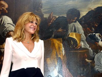 Carmen Cervera en 2004, durante la presentación de las nuevas salas del Museo Thyssen-Bornemisza, que muestran su colección.EFE