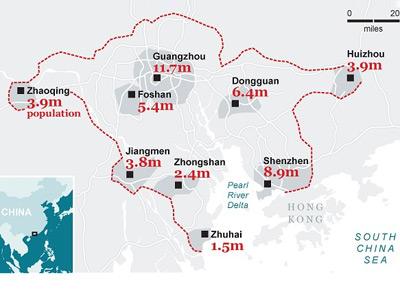 China unirá 9 ciudades para construir una de las urbes más grande del mundo. THE TELEGRAPH