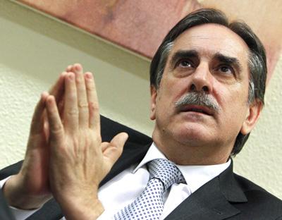 El ministro de Trabajo e Inmigraci�n, Valeriano G�mez.