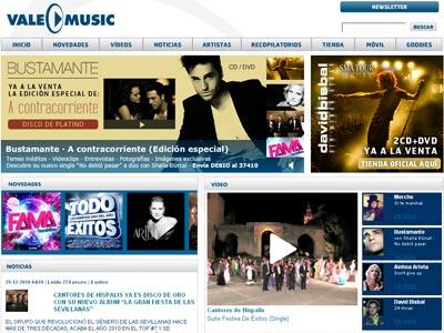 Imagen de la web de Vale Music.
