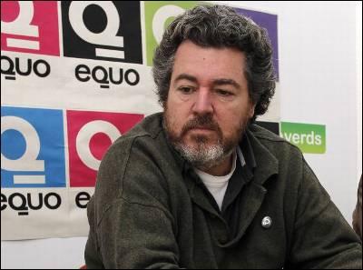 Juantxo López de Uralde, durante una rueda de prensa de Equo en Valencia el pasado 25 de noviembre.JUAN NAVARRO