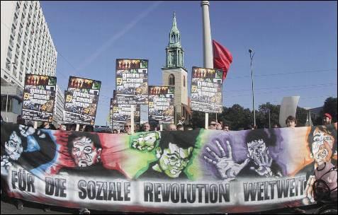 Manifestantes en Berlín.-