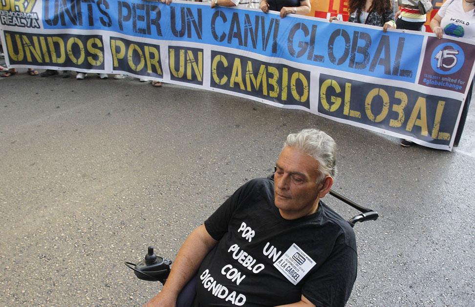 Manifestación 'por un cambio global' en Valencia