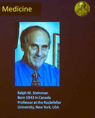 Ralph Steinman, en la imagen distribuida por la Fundación Nobel.